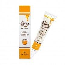 Крем для шкіри навколо очей з екстрактом меду і прополісу 3W Clinic Honey Eye Cream Whitening & Anti-Wrinkle