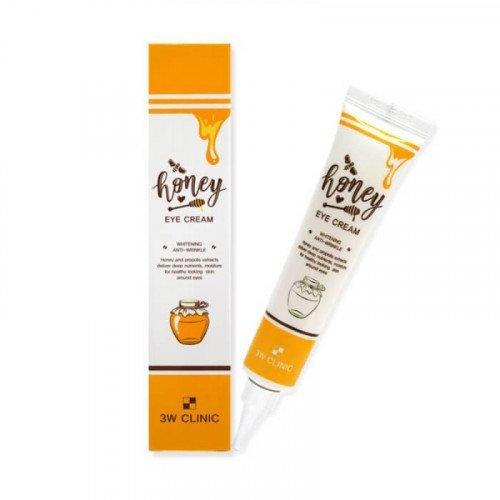 Крем для кожи вокруг глаз с экстрактом меда и прополиса 3W Clinic Honey Eye Cream Whitening & Anti-Wrinkle