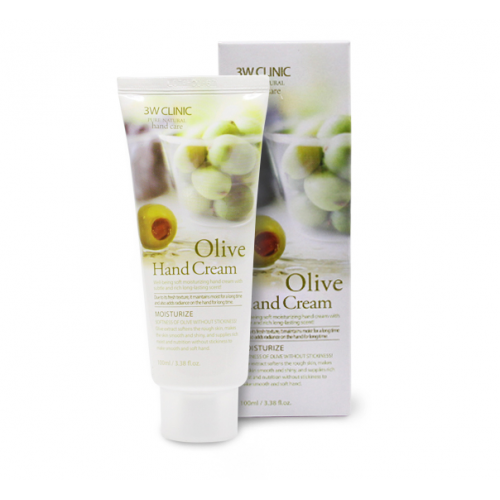 Крем для рук с экстрактом оливы 3W Clinic Olive Hand Cream