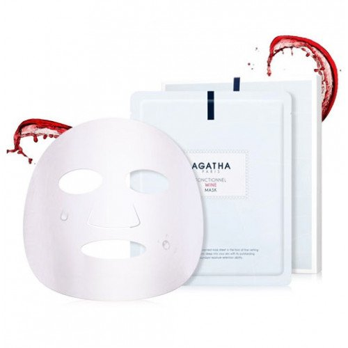 Листовая маска с красным вином Agatha Funtionnel Wine Mask