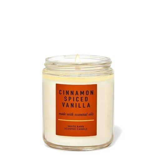 Ароматическая свеча с эфирными маслами Bath & Body Works Cinnamon Spiced Vanilla
