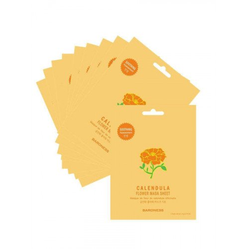 Зволожуюча тканинна маска з календулою Baroness Calendula Flower Mask Sheet