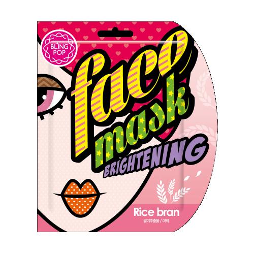 Освежающая маска для лица с экстрактом рисовых отрубей Bling Pop Rice Bran Brightening Mask