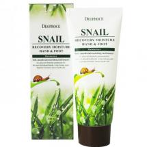 Улиточный крем Deoproce Snail Recovery Moisture Hand & Foot Cream