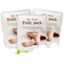 Смягчающая маска для ног Calmia Silky Essencial Foot Pack