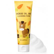 Увлажняющая пенка для умывания SeaNtree Horse Oil 100 Cleansing Foam