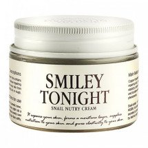 Ночной улиточный крем с пептидами Graymelin Smiley Tonight Snail Nutry Cream