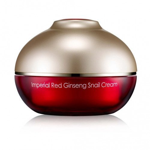 Крем з фільтратом равлика і женьшенем Ottie Imperial Red Ginseng Snail Cream