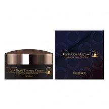 Антивозрастной крем-гель с черным жемчугом Deoproce Black Pearl Therapy Cream