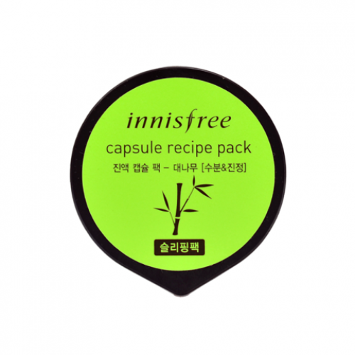 Увлажняющая ночная маска innisfree Capsule Recipe Pack Bamboo