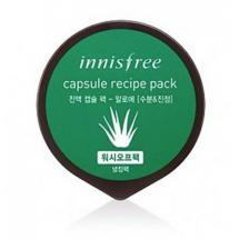 Увлажняющая и охлаждающая маска с алое Innisfree Capsule Recipe Pack Aloe