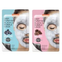 Кислородная маска Purederm Deep Purifying Black O2 Bubble Mask