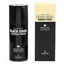 Очищающая кислородная маска с экстрактом улитки The Skin House Black Snail Bubble Mask