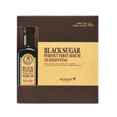 Антивозрастная сыворотка с экстрактом черного сахара Skinfood Black Sugar Perfect First Serum 2X–essential
