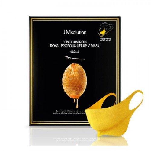 Лифтинг маска для контура лица JM Solution Honey Luminous Royal Propolis Lift Up V Mask Black