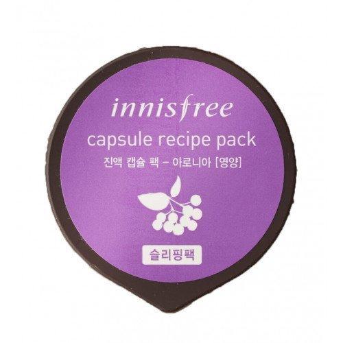 Ночная маска с черноплодной рябиной Innisfree Capsule Resipe Pack Aronia
