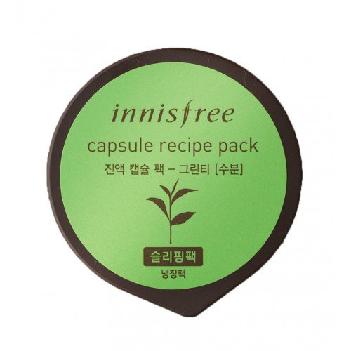 Ночная маска с зеленым чаем innisfree Capsule Recipe Pack Green Tea