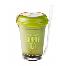 Ночная очищающая маска Etude House Bubble Tea Sleeping Pack Green Tea  с зеленым чаем