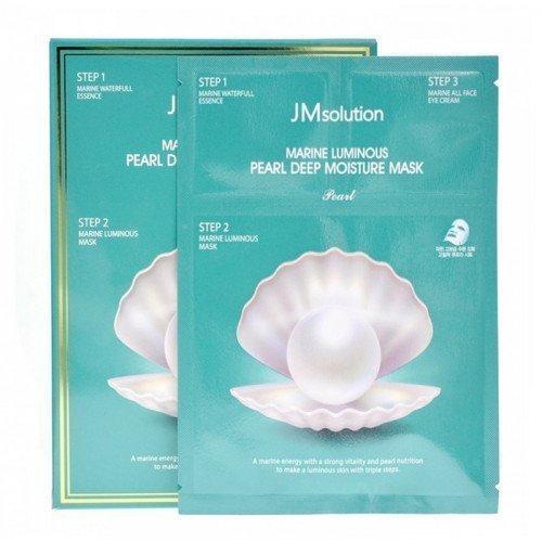 Увлажняющий трёх-шаговый уход для сияния кожи JM Solution Marine Luminous Pearl Deep Moisture Mask