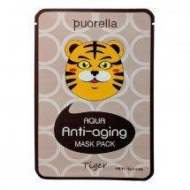 Антивозрастная тканевая маска с прополисом и коллагеном Puorella Animal Mask Tiger