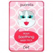 Увлажняющая и успокаивающая тканевая маска Puorella Aqua Soothing Mask Pack Cat