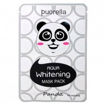 Увлажняющая и осветляющая тканевая маска Puorella Aqua Whitening Animal Mask Panda