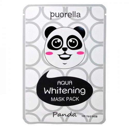 Зволожуюча і Освітлююча тканинна маска Puorella Aqua Whitening Animal Mask Panda