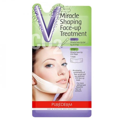 Лифтинг маска для контура нижней трети лица Purederm Miracle Shaping Face-Up Treatment