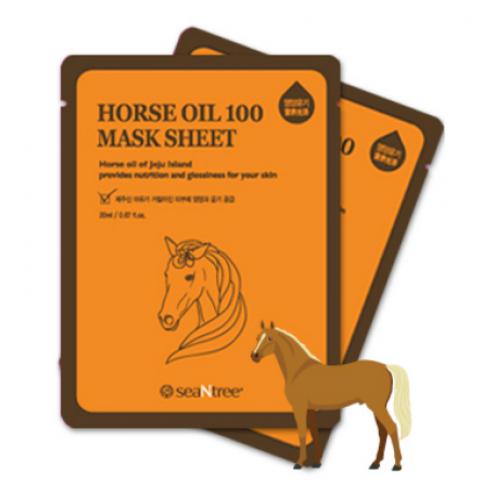Питательная маска SeaNtree Horse Oil 100 Mask Sheet