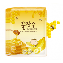Тканевая маска с экстрактами мёда и банана Secret Key Honey Banana Mask Pack