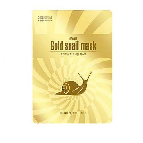 Тканинна маска з фільтратом равлика The Orchid Skin Gold Snail Mask