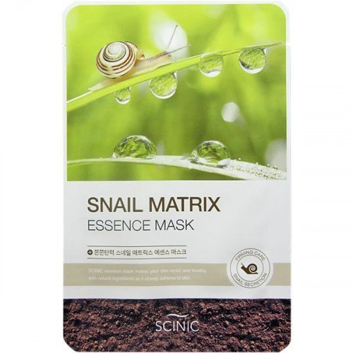 Тканинна маска з муцином равлика Scinic Snail Matrix Essence Mask