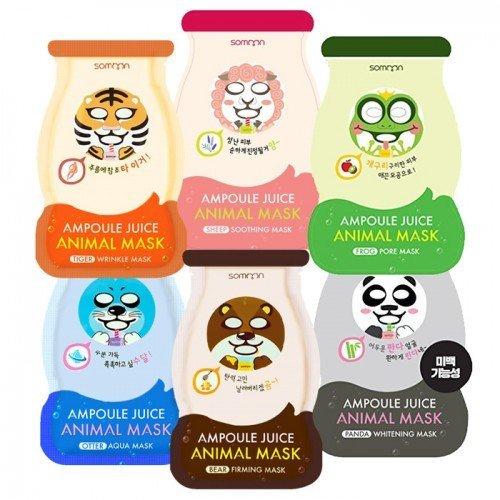 Тканевые маски Somoon Ampoule Juice Animal Mask