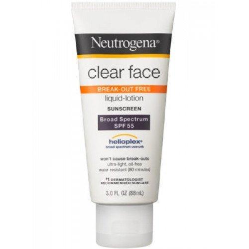 Санскрін для проблемної шкіри Neutrogena Clear Sunscreen Lotion SPF 55