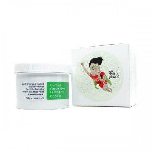 Заспокійливі пілінг-диски для чутливої шкіри Cosrx One Step Green Hero Calming Pad