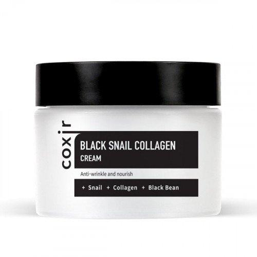 Крем с муцином черной улитки и коллагеном Coxir Black Snail Collagen Cream