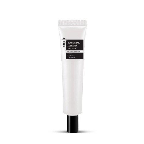 Антивіковий крем для шкіри навколо очей з муцином чорного равлика і колагеном Coxir Black Snail Collagen Eye Cream