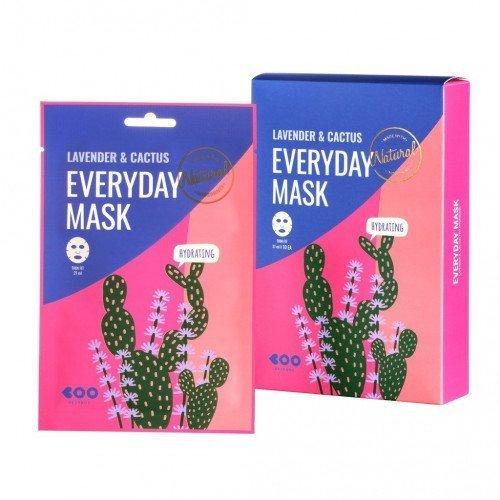Зволожуюча маска з екстрактами лаванди і кактуса Dearboo Lavender &Cactus Everyday Mask