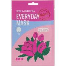 Маска для обличчя з екстрактом троянди і зеленого чаю Dearboo Everyday Mask Rose &Green Tea