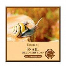 Мыло для лица с фильтратом улиткиDeoproce Snail Recovery Soap