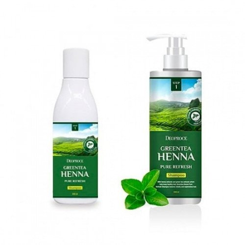 Шампунь Deoproce Green Tea Henna Pure Refresh Shampoo