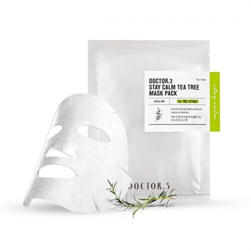 Заспокійлива тканинна маска з чайним деревом Doctor.3 Stay Calm Tea Tree Mask Pack