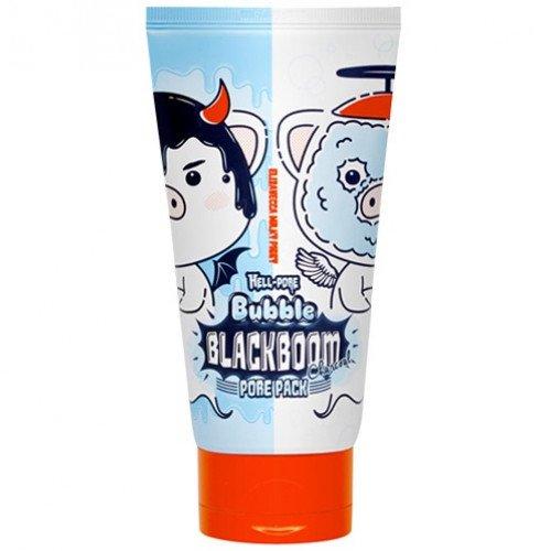 Чорна киснева маска для очищення пор Elizavecca Hell Pore Bubble Black Boom Pore Pack