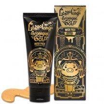 Маска-пленка с коллоидным золотом и пептидами Elizavecca Hell-Pore Longolongo Gronique Gold Mask Pack
