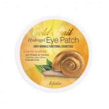 Гидрогелевые патчи с экстрактом улитки и золотом Esfolio Gold Snail Hydrogel Eye Patch