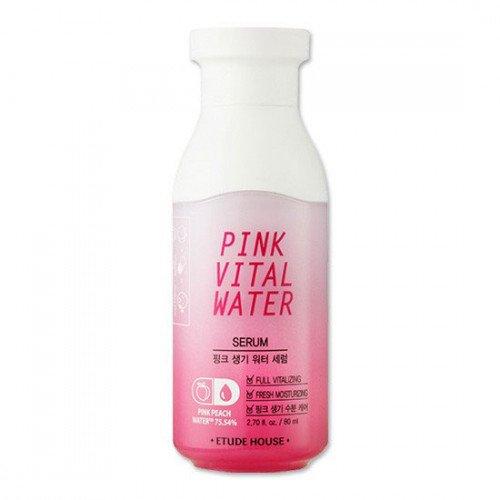 Увлажняющая сыворотка с розовой персиковой водой Etude House Pink Vital Water Serum