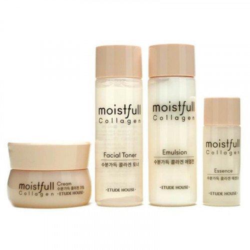 Набор мини средств с коллагеном Etude House Moistfull Collagen Skin Care Kit 4 pcs