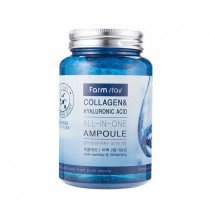 Ампула с коллагеном и гиалуроновой кислотой FarmStay Collagen & Hyaluronic Acid All In One Ampoule