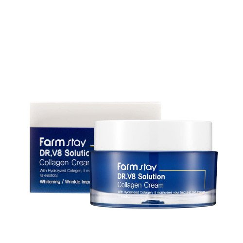 Крем с коллагеном FarmStay DR.V8 Solution Collagen Cream