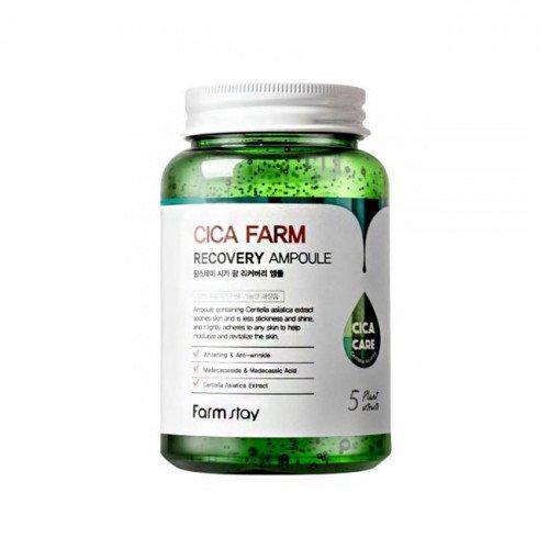 Восстанавливающая сыворотка с центеллой Farm Stay Cica Farm Recovery Ampoule